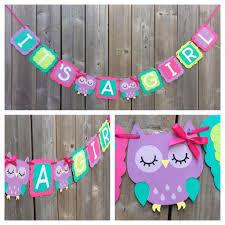 it u0027s a owl banner pink purple owl banner baby shower