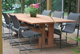 furniture modern wood outdoor dining furniture on the edge of