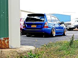subaru xt stance first class fitment blue subaru forester xt stance flickr