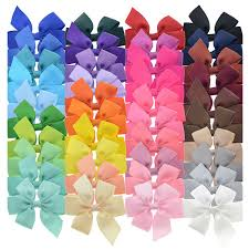 3 inch grosgrain ribbon 40pcs 3 inch grosgrain ribbon child hair bows in color with