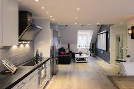 kitchen design for apartment elegant small one bedroom modern attic apartment with exposed wood