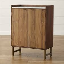free standing bar cabinet bar cabinets and bar carts crate and barrel