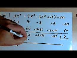 synthetic division with imaginary numbers 143 3 6 1 b youtube
