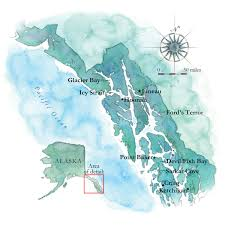 Southeast Alaska Map Cruising The Inside Passage To Alaska On A Marlow Explorer 61e