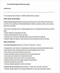 Sample Receptionist Resume by Receptionist Resume For Successful Applicants