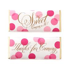 sweet paper shop confetti greetings personalized bar wrapper