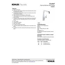 kohler evoke kitchen faucet kohler k 6331 cp evoke polished chrome pullout spray kitchen