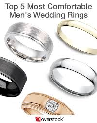 top 5 most comfortable men s wedding rings overstock