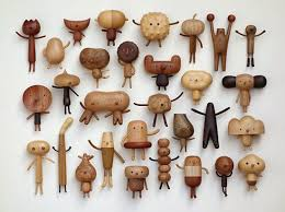 woodies creatures carved wooden animals modern wood toys yan