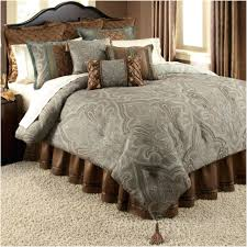 comforters ideas awesome blue and brown comforter stunning duvet