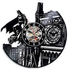 vinyl evolution batman dark knight wall clock black clock watch