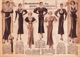 dress styles 1930s fashion women pictures advertisements prices