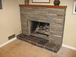 interior design amazing tiling over a brick fireplace