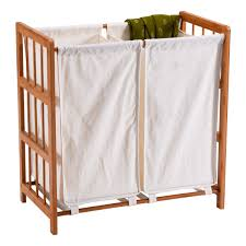 Laundry Divider Hamper by Household Bamboo Frame Sorter Hamper Laundry Basket Laundry