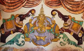 Buy Indian Home Decor Mural Inside Brihadeeswarar Temple Temples Of Tamil Nadu