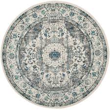 safavieh evoke gray ivory 6 ft 7 in x 6 ft 7 in round area rug
