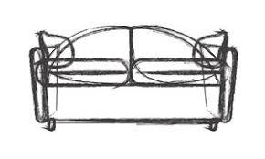 ancient sofa drawing vector royalty free stock image storyblocks