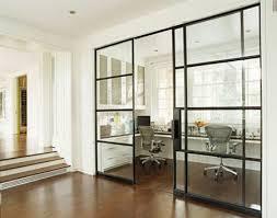 modern sliding glass doors built in desks contemporary denlibraryoffice house beautiful
