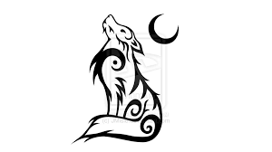 collection of 25 tribal wolf harvest moon design