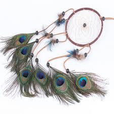 online get cheap dreamcatcher peacock feathers aliexpress com