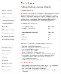 Samples Of Resumes For Administrative Assistant Positions by 10 Entry Level Administrative Assistant Resume Templates U2013 Free