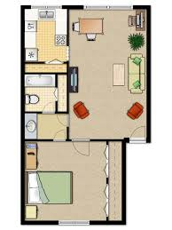 unusual small 1 bedroom apartment floor plans with 750x1055