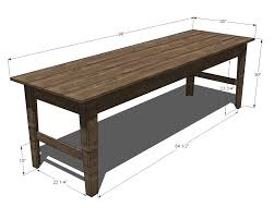 Free Wooden Dining Table Plans by Ana White Build A Narrow Farmhouse Table Free And Easy Diy