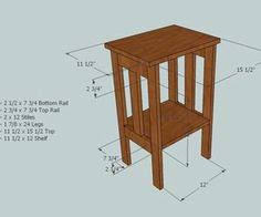 Plans For A Simple End Table by 100 Free End Table Plans Planspin Com