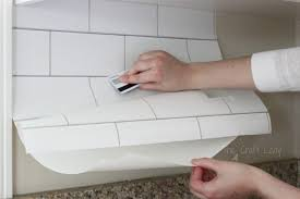 Easy Backsplash Tile by White Subway Tile Temporary Backsplash The Full Tutorial The