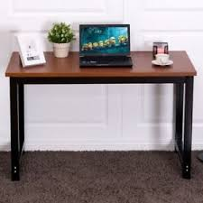 Teak Computer Desk Modern Teak Computer Desk Laptop Black Leg Table Workstation Home