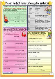 12 free esl present tense sentences worksheets