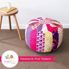 Pattern Ottoman Patchwork Pouf Pdf Sewing Pattern Moroccan Style Ottoman Pattern