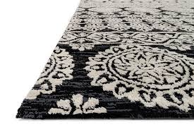Black And Beige Rug Lotus Lb 01 Black Silver Area Rug Magnolia Home By Joanna Gaines
