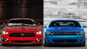 2016 ford mustang vs 2015 dodge challenger