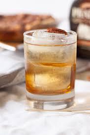 bourbon thanksgiving cocktail bourbon pecan pie cocktail basil and bubbly