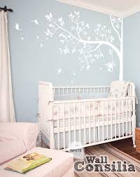 Wall Tree Decals For Nursery Tree Wall Decal Nursery Wall Decor White Tree Wall Mural
