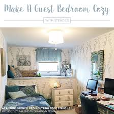 bedroom wall patterns make a guest bedroom cozy with stencils stencil stories stencil