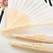 personalized wedding fans personalized white silk wedding fans