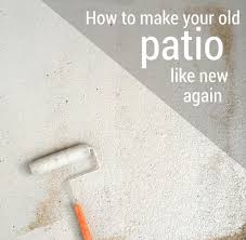 Outdoor Concrete Patio Paint How I Made My Patio Look New Again With Olympic Rescue It