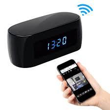 amazon com alon hd 1080p clock wifi hidden camera covert nanny