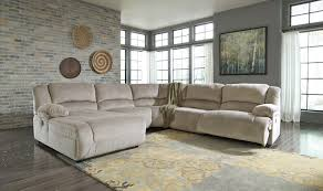 Ashley Furniture Microfiber Sectional Reclining Fabric Sectionals