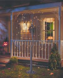 Willow Tree Home Decor Philips Pre Lit Artificial Willow Tree 85 Halloween Porch