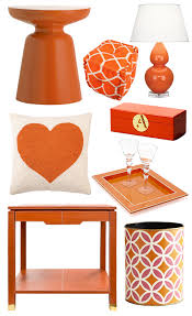 bring summer inside with bright orange decor living