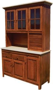 amish kitchen hoosier cabinet hutch baking pantry solid wood