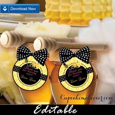 bumble bee cake topper bumble bee editable favor tags toppers d2 instant