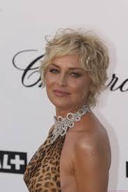 curly hairstyles for a round face sharon stone short curly