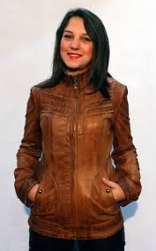 light brown leather jacket womens woman leather jacket model 110