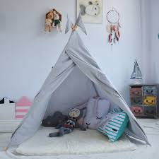 tipi chambre lovetree style grey playhouse teepee tent play room