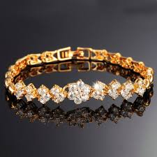 aliexpress buy new arrival 18k real gold plated aliexpress buy opk new fashion gold color bracelets for