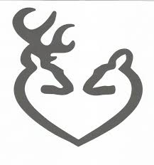 deer buck and doe heart inspired by browning vinyl decal